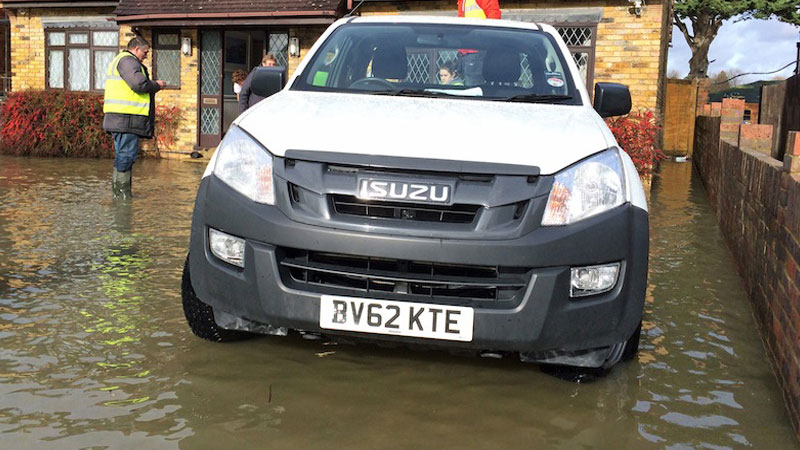 Isuzu D-Max Helps Flood Victims Of Berkshire