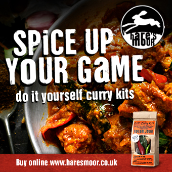 Spice up your game, do it yourself curry kits. Buy online www.haresmoor.co.uk